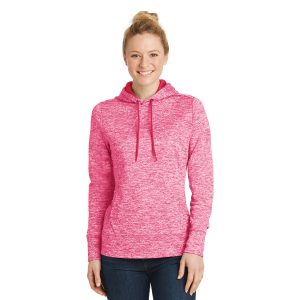Sport-Tek® PosiCharge® Electric Heather Fleece Hooded Pullover - Ladies